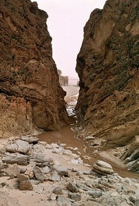 Cut rock gorge, Tunisia, North Africa. Photo by Mark Affeldt