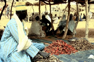 Selling Dried Peppers and Ginger at the Friday Market, Dan Barko, Niger, ca. 1985. Photo by James Delehanty.